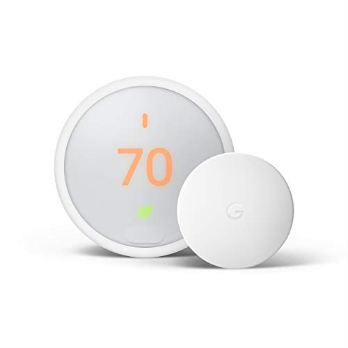 Google Nest Thermostat E - Smart Thermostat + Google Nest Temperature...
