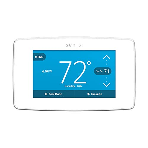 Emerson Sensi Touch Wi-Fi Smart Thermostat with Touchscreen Color Display,...
