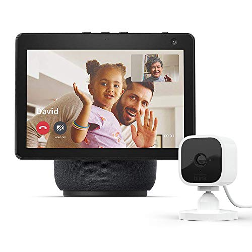 All-new Echo Show 10 (3rd Gen)   Charcoal with Blink Mini Indoor Smart...