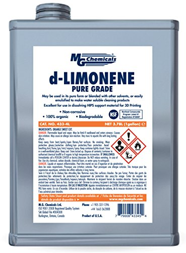 MG Chemicals433-4L d-Limonene (Pure Grade) Cleaner Degreaser and 3-D...