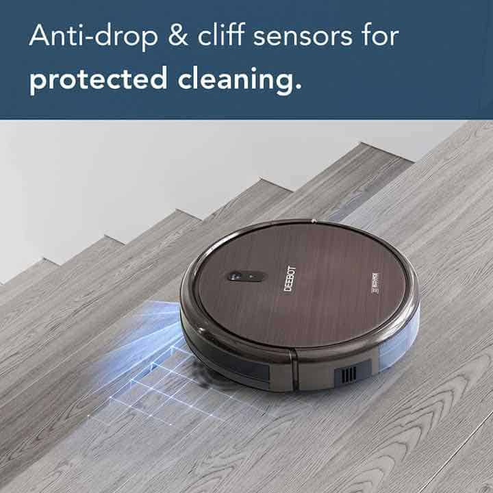 Ecovacs Deebot n79s Anti-drop and Cliff Sensors, so it won't drop down stairs