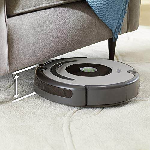 iRobot Roomba 677 low height allows it to fit under sofas, chairs, and more.