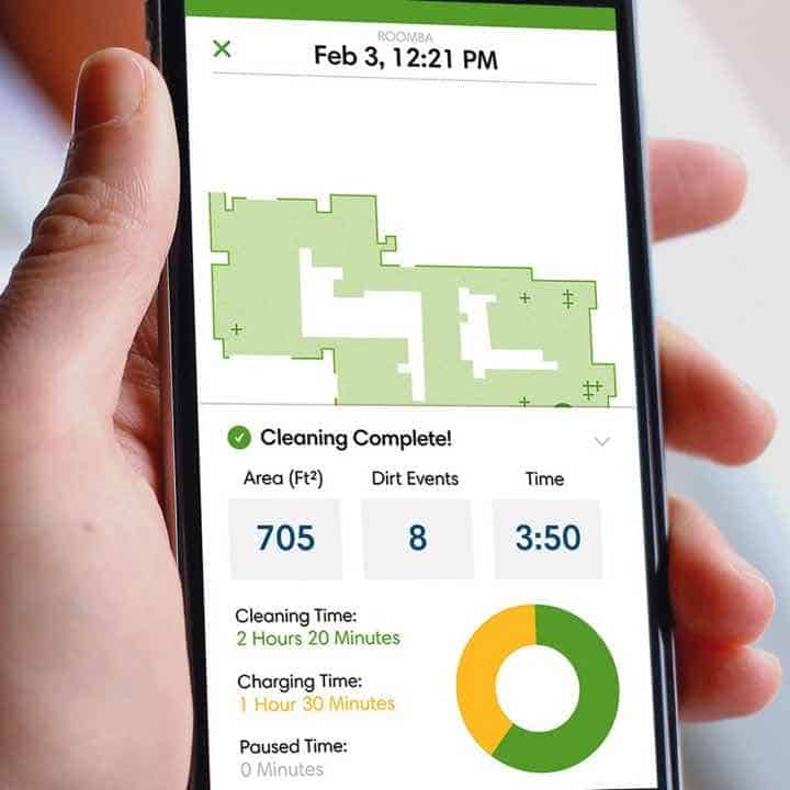 Cleaning Reports from the iRobot Home App for Android and iOS