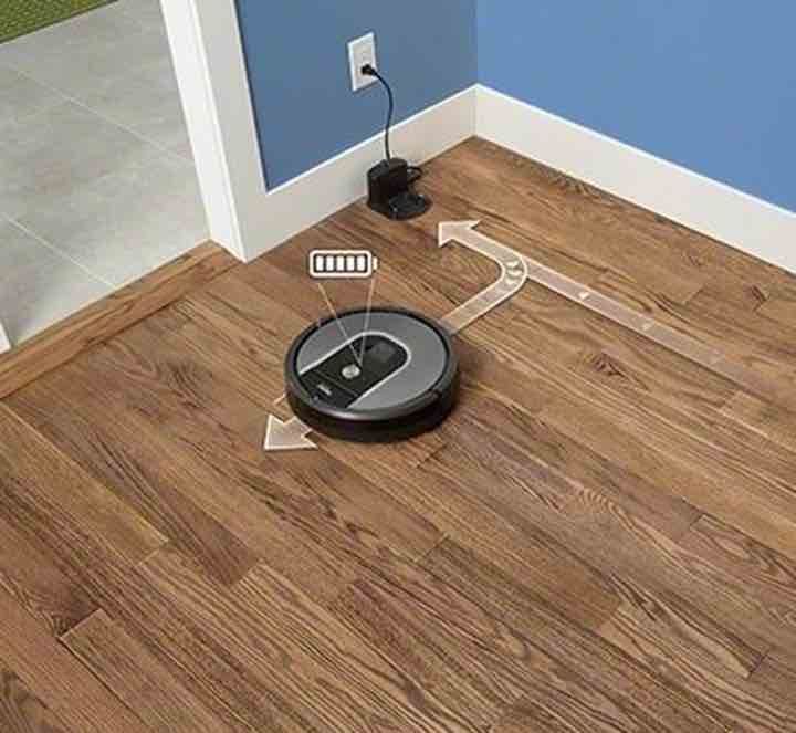 iRobot Roomba 960 has the Recharge and Resume feature, so it'll pick up where it left off during the last cleaning