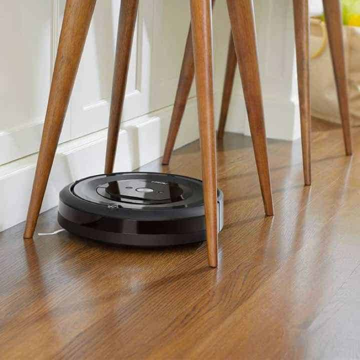 iRobot Roomba e5 (5150) Height and slim to fit under sofas, coffee tables, chairs, and more.