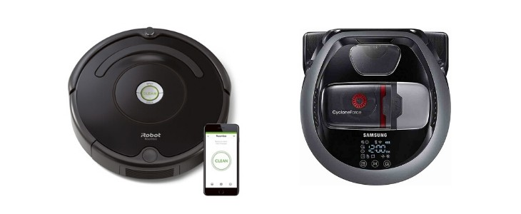iRobot Roomba 675 vs Samsung POWERbot r7040