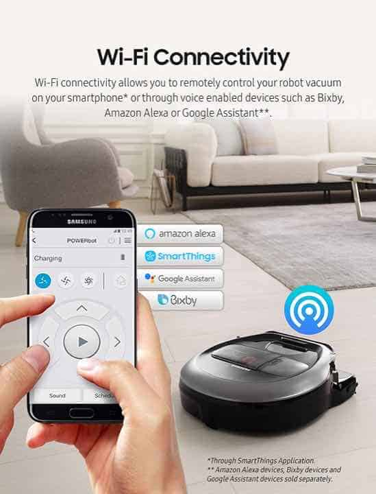 Samsung POWERbot R7040 SmartThings Mobile App and Wi-Fi Connectivity