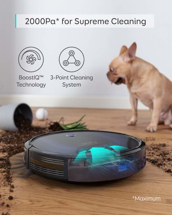 eufy Robovac 15c Max 2000Pa suction power