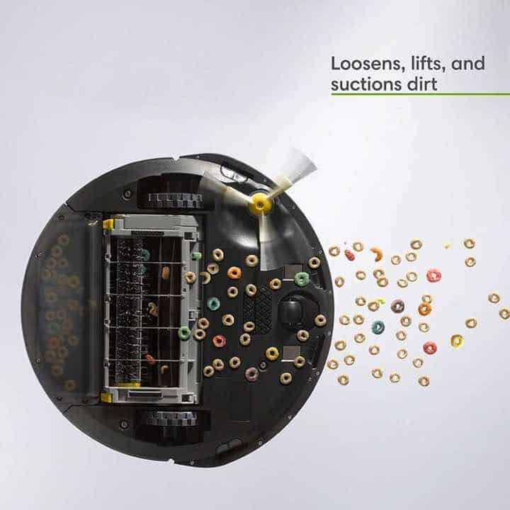 iRobot Roomba 675 3 Stage Cleaning System Loosens, Lifts, and Suctions Dirt and Debris