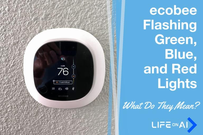ecobee Flashing Green, Blue, and Red Lights