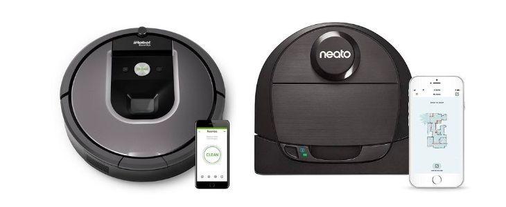 iRobot ROomba 960 vs Neato D6
